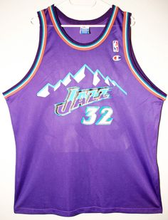 Champion NBA Basketball Utah Jazz #32 Karl Malone Trikot/Jersey Size 48 - Größe XL - 79,90€ #nba #basketball #trikot #jersey #ebay #sport #fitness #fanartikel #merchandise #usa #america #fashion #mode #collectable #memorabilia #allbigeverything