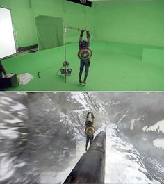 Visual effects are one of the most important parts of the movies today. Visual effects are one of the most important parts of the movies today. Marvel Dc, Movie Special Effects, Famous Movie Scenes, Por Tras Das Cameras, Captain America 1, Chroma Key, Visual Effects, Marvel Movies, Marvel Cinematic Universe