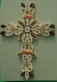 Quilled Holy Cross by Karen Miniaci Quilling Supplies from 'Quilled Creations'