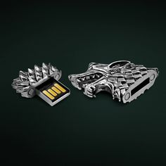 Stark Direwolf USB Flash Drive / Protect your digital data using the sigil of House Stark itself by refashioning your age old flash drives with this Stark Direwolf USB Flash Drive. http://thegadgetflow.com/portfolio/stark-direwolf-usb-flash-drive/