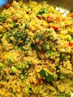 weeknight quinoa {a way I use up all my veggies the night before a new CSA box}