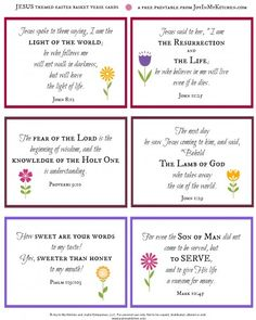 Free printable easter poem about the true meaning of easter and celebrate the resurrection create a jesus themed easter basket free printable verse cards negle Images