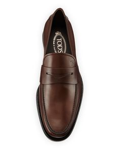 3b533358374 Tod s Leather Penny Loafer Penny Loafers