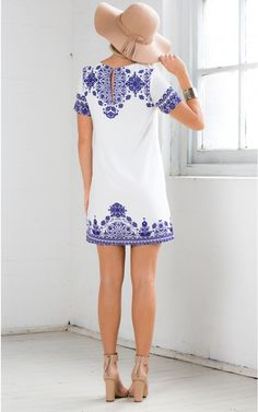 China Doll Shift Dress in White Print | SHOWPO Fashion Online Shopping