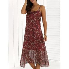 Chiffon Midi Casual Flower Club Dress