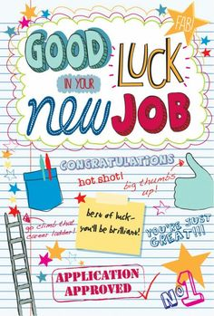 Good luck in your new job  (Martina Hogan)
