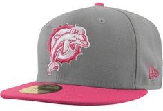 Miami Dolphins Pink New Era 59FIFTY Breast Cancer Awareness Hat