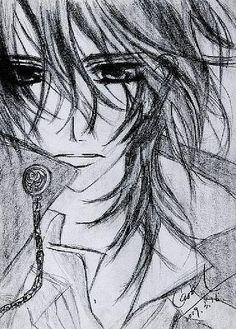 Drawing.  Kuran Kaname -- Vampire Knight