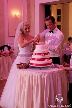 17. Pink Wedding,Wedding cake / Różowe wesele,Tort ślubny,Anioły Przyjęć