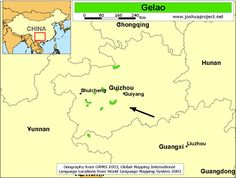 Pray / Gelao of China map