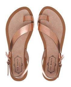 Ted Baker - Leather Toe Loop Sandal - Rose