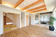 Ceiling Beams, House Plans, House Design, How To Plan, Living Room, Wood, Interior, Outdoor Decor, Furniture