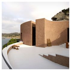 Cini Boeri. Spanish style soft lines with this sort of modern architecture
