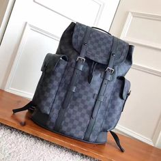 Louis Vuitton lv Christopher man backpack original leather