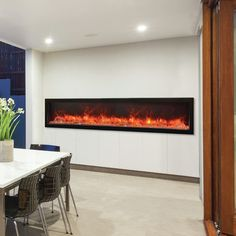 """Amantii Panorama Series Built-in Wall Mount Electric Fireplace Size: 15.88"""" H x 88.13"""" W x 12"""" D"""