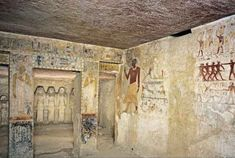 Mastaba of Queen Meresankh III, Giza, Egypt Inside there is an axample of servant sculptures and paintings
