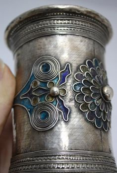 19th C Silver Enamel Cuff Bracelet    $250 + BC (sold June '14)    Incorrectly classifed as Middle Eastern