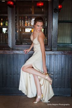 Our SS12 gold Elizabeth Sandals were spotted in a stunning recent wedding shoot!