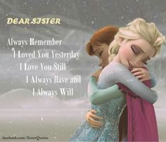 Top Inspiring Quotes about Sisters & brother n sister quotes in hindi Frozen Sister Quotes, Sister Quotes In Hindi, Little Sister Quotes, Sister Poems, Sister Quotes Funny, Brother Sister Quotes, Love My Sister, Sister Friends, Bff Quotes