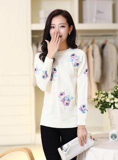 TC000944 Autumn and winter sweater rose bottoming shirt for women