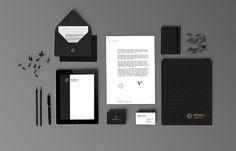 Papelería de Petrela, Hoja membretada, sobre y folder, tarjetas y libreta. #stationery #branding #design