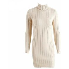 Turtlenack Sweater Dress (2.035 RUB) ❤ liked on Polyvore featuring dresses, sweater dress, pink dress and pink sweater dress
