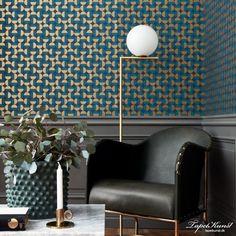 Boldly geometric, the Borastapeter Vertigo wallpaper has been designed by Arne Jacobsen as part of the Scandinavian Designers II collection. Indoor Floor Lamps, Scandinavian Design, Decor, Interior Design, Luxury Wallpaper, Interior Design Living Room, Interior, Headboard Styles, Home Decor