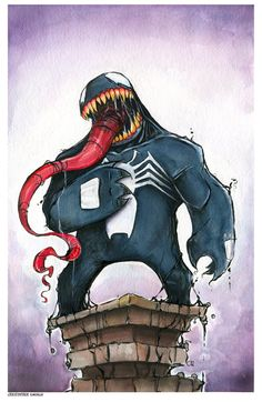 Venom by Christopher Uminga. This piece may be purchased at: www.metropoliscomicart.com