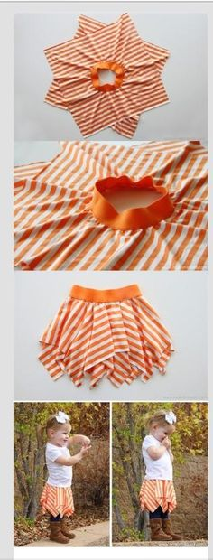 Cute and simple way to make a skirt
