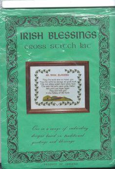 Irish Cross Stitch Kit An Irish Blessing by Celtic Cross Stitch 22HPI Hardanger