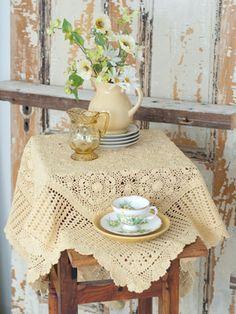 April Cornell crochet tablecloth