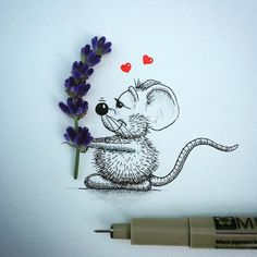 funny art - mouse by apredart