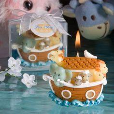 Noah's Ark Candle Favor