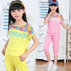 New 2016 Summer Children's Clothing Sets Girls Cotton Short-Sleeve Suits Kids Chiffon Set Female Girls Top + Pants Sports Sets Price: PKR Female Girl, White Converse, Sport Pants, Summer Kids, Toddler Dress, Cotton Shorts, Kids Wear, Outfit Sets, Kids Fashion