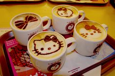 Hello Kitty coffee! LOVE! So cute.