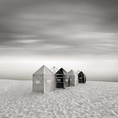 evening on the #beach by Fabrice Silly #photography  5D MII + 16-35mm #LongExposure  #monotone #monochrome #blackandwhite - Image #324506