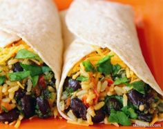 Spinach-Bean-Burrito-Wrap. These are amazing, and even better with some chicken added to the mix.