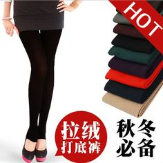 Free shipping - Women's Winter Thick Warm Slim Stretch Footless Tights Leggings Pants $15.99 You save 36% off the regular price of $25.00100% Brand new and high quality  Material: Nylon+Spandex  Free Size: ONE SIZE FITS ALL Warm and colorful! It is really comfortable and soft, and the perfect accessory with every look. These leggings are as versatile as they are fashionable. There is cotton flannel inside so it keeps you warm in winter. It will be one of the best you've ever worn.