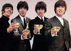 The Beatles with Champagne!