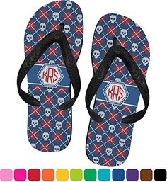 f0a627759cf Knitted Argyle Skulls Flip Flops Small -- Visit the image link more  details.(