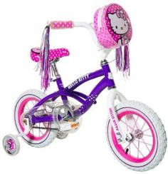 Black Friday Hello Kitty Girl's Bike, Purple, from Hello Kitty Mountain Bikes For Sale, Best Mountain Bikes, Hello Kitty Bike, Bird Cages For Sale, Small Fish Tanks, Thing 1, Bike Reviews, Kids Bike, Top Toys