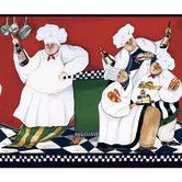 """Found it at Wayfair - American Chef's a Cookin 15' x 9"""" Food and Beverage Border Wallpaper"""