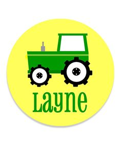 Look what I found on Yellow Tractor Personalized Plate by Print the Party Color Me Mine, Personalized Plates, Tractors, Yellow, Create, Party, Parties