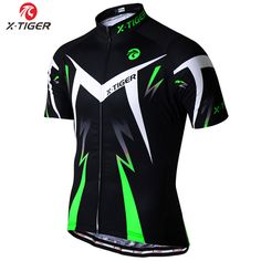 X-tigre verano verde harina ciclismo clothing mountain bike jersey ropa ciclista hombre ropa maillot ciclismo bicicleta de carreras