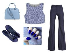 """just a blue day"" by emma-victoria-e ❤ liked on Polyvore featuring Alice + Olivia and Michael Kors"