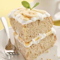 Low Cholesterol Banana Cream Cake