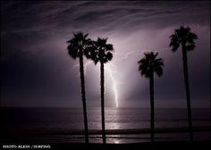 southern california sightning storm