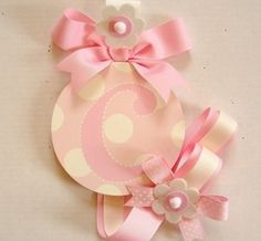 LotAspots - Boutique Girls Round Hair Bow Barrette Holder - Candice only  - Hair Bow Holders