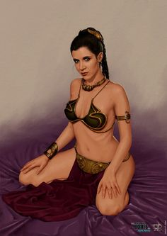 Props to whoever did this! This has got to be one of the best ones I have seen of Slave Leia yet! http://roguerepublik.com/