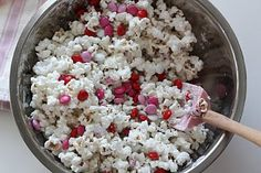 Valentine popcorn snack... perfect for school party treat bags